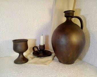wine decanter clay pitcher ceramic gift for him ceramic decanter wine pitcher clay jug ceramic handmade pitcher ceramic jug pottery jug wine