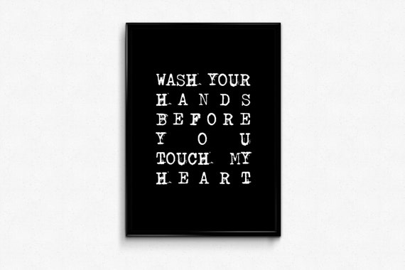 Bathroom Quotes Wall Art Wash Your Hands Before You Touch My Etsy