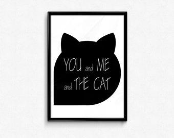 CAT QUOTES,cat quote wall art,cat quote prints,cat printable art,cats wall art,cats home decor,cat quotes poster,black cat print