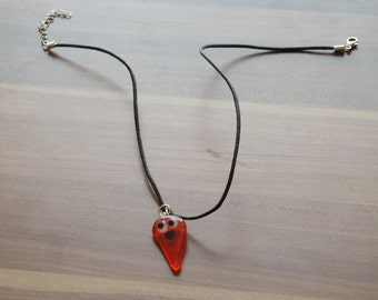 Necklace, Handmade Glass Fusion Necklace, gift for her
