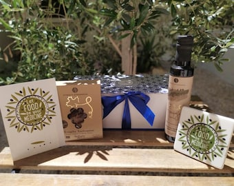 Nature's Medicine Gift Box - Greek Hamper to Send - Superfoods Gift Basket - Greek Client Gift- Physician Gift - Hippocrates Greek Quote