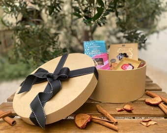 Prosperity Gift Box - Greek Gift to Send - Good Luck Gift Box - Hamper with Greek Goodies - Luxury Gift Box - Cookies Gift Box from Greece