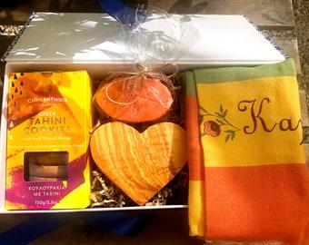 Cookies Basket - Greek Cookies Gift Box - Greek Gift - Sustainable Gift to Send - Frühstück aus Kreta - Mother's Day Gift - Greek Mum Gift