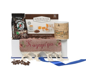 Christmas Morning Gift Box - Greek Coffee Gift Box - Breakfast Basket - Greek Gift to Send - Good Morning Hamper - Christmas New Home Gift