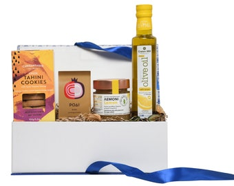 Merry Xmas Gift Box - Greek Cookies Hamper - Greek Gift to Send - Christmas Gift for Mother in Law - Greek Goodies Gift - Foodie Basket
