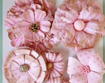 Floral Boutique Pink Paper Flowers
