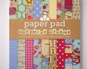 Bohemian Dreams Paper Pad - 8x8 patterned papers