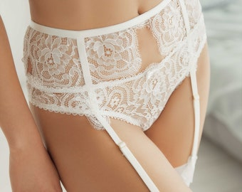 505534012b5 Garter belt suspender belt white garter belt lace garter