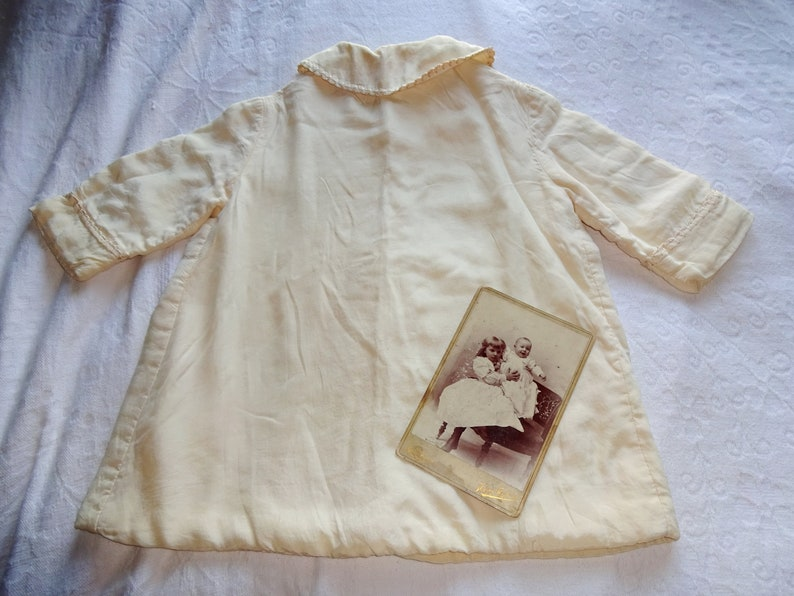 Stunning Museum Quality Antique Babies Ivory Silk Embroidered Christening Baptism Special Occassion  Heirloom Coat Edwardian Era Baby/'s Coat