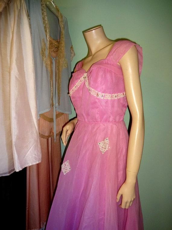 Original Vintage 1950s Prom Dress Goodwood Dita V… - image 7