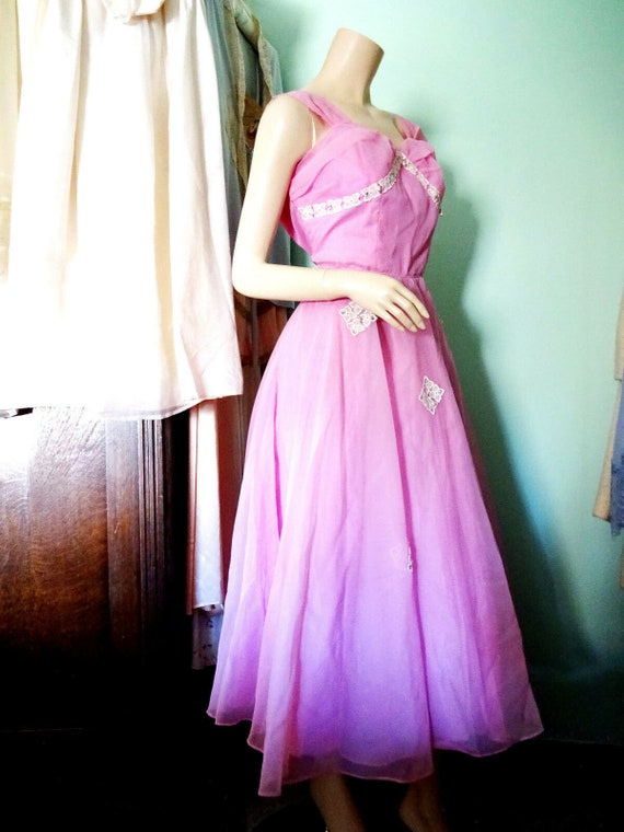 Original Vintage 1950s Prom Dress Goodwood Dita Vo