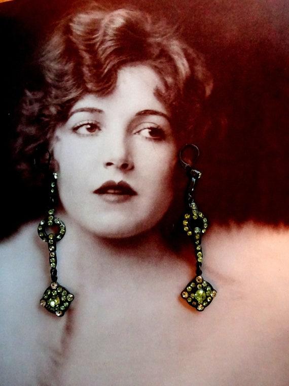 Stunning Antique Art Deco 1920s 1930s Earrings Bel