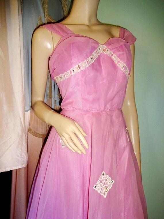Original Vintage 1950s Prom Dress Goodwood Dita V… - image 6