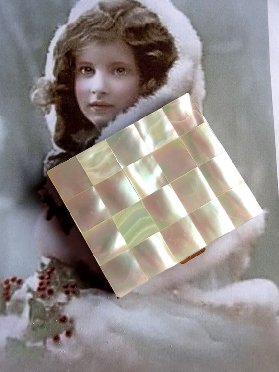 Original Vintage 40s 50s 30s Mother Of Pearl Brid… - image 8