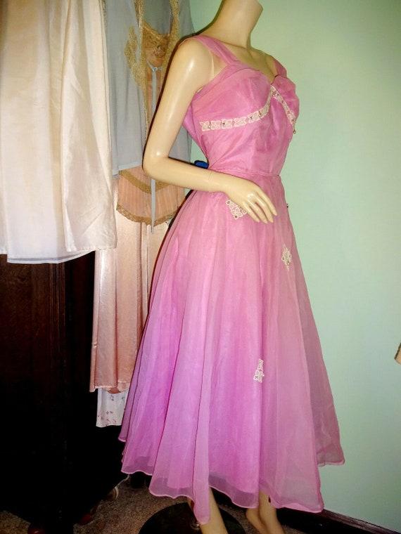 Original Vintage 1950s Prom Dress Goodwood Dita V… - image 3