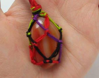 Carnelian net necklace