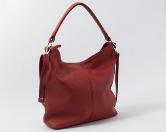 Leather hobo bag  73677703b25b2