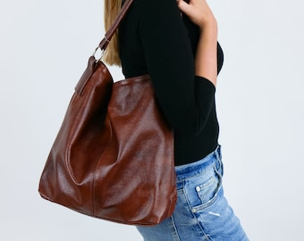 c22646f167 Leather hobo bag