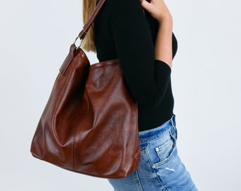 Leather hobo bag  7177a3cc63df1