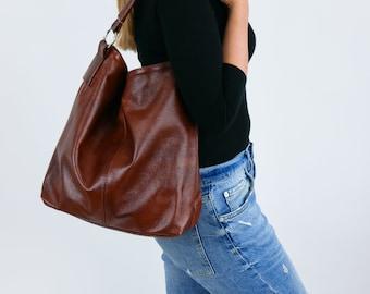 Leather hobo bag  e85b874714f3d