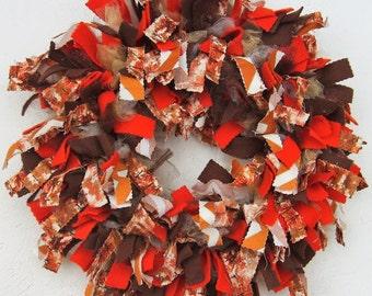 Fall Tree Rag Wreath
