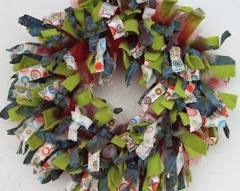 Circle Rag Wreath