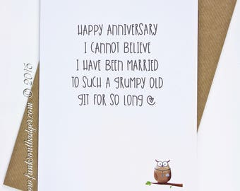 Funny Anniversary Card Grumpy Old Git