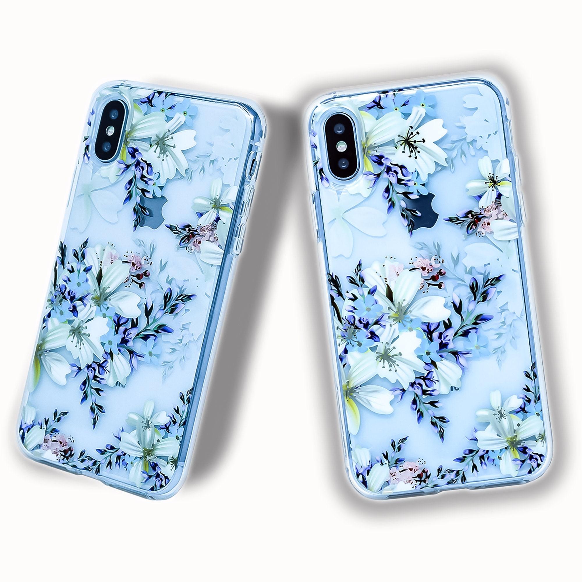 Clear Floral Iphone Case Floral Iphone 7 Case Floral Iphone Etsy