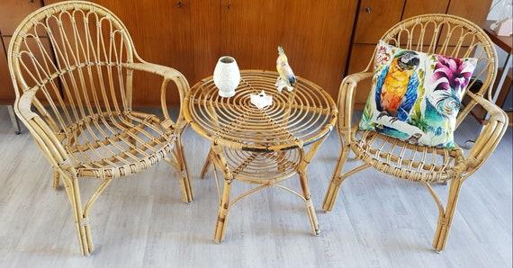 True Vintage Boho Tiki Style Bambus Sitzgruppe Gartenmobel Etsy