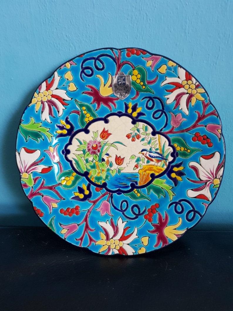 Sensational plate by Emaux de Longwy
