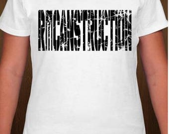 RICANstruction Flag Womens  tshirts for the reconstruction of Puerto Rico