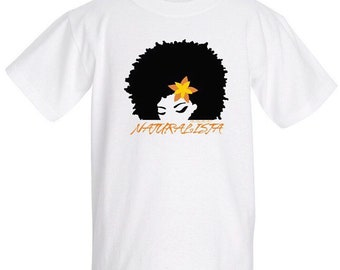 LIL' NATURALISTA 100% Pre-Shrunk Cotton T-Shirt in white