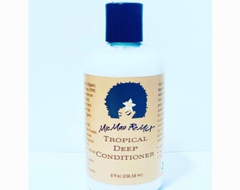 TROPICAL DEEP CONDITIONER rehydrates hair with a burst of fresh tropical scent.