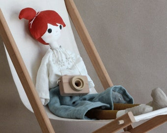 Handmade fabric doll.