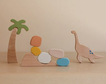 Plesiosaur stacking toy