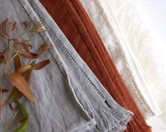 Linen summer blanket