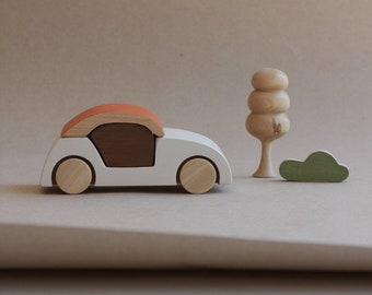 Stacking toy, wooden toy, handmade, car,toddlers toy, open ended play