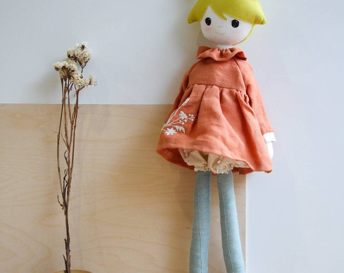 Featured listing image: Handmade fabric doll