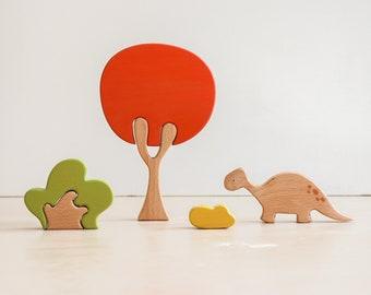 Dinosaur tree puzzle - Scarlet tree