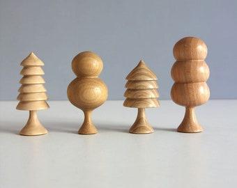 Handmade wooden tree set