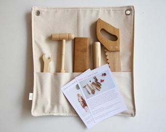 Handmade 5 piece wooden tool set