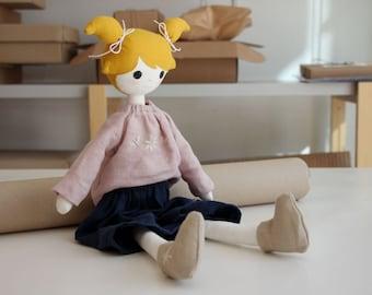 Handmade fabric dollheirloom doll, Rag Doll