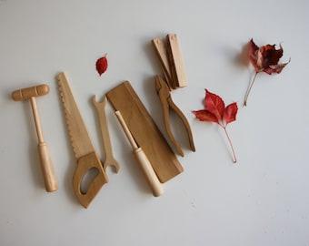 Handmade 7 piece wooden tool set