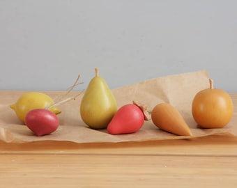 Handmade wooden fruit and vegetable set
