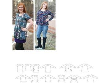 PDF pattern. Sunday Morning Tunic/Dress. Size 32-60