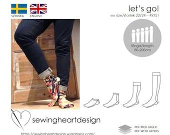9230c4365d9f PDF pattern. Let s Go! socks. Size 22 24 - 49 51