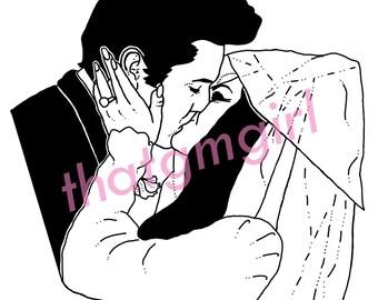 Elvis and Priscilla Presley Wedding A4 print