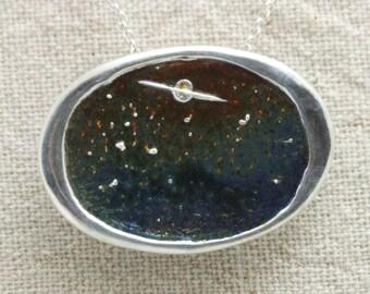 Forbidden Planet: Fine silver and enamel