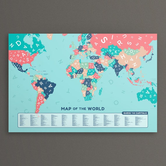 Guess the country world map large map of the world poster gumiabroncs Choice Image