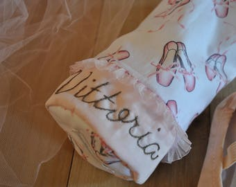 Personalized Ballet Pointe Shoe Bag – Dance Shoe Bag - Ballet Bag